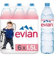 Evian X 6 X  1.5 L