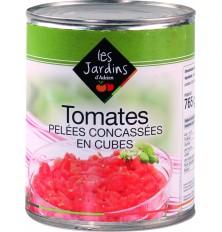 Tomates pelées concassées en cubes