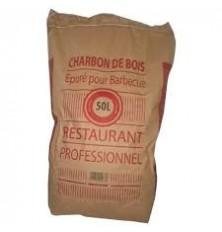 Charbon de bois Sac x 50 L (Sac)