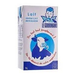 Lait Demi Écrémé gourmand pack 6 x 1 l