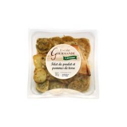 Filet de poulet et ses pommes de terre fondantes