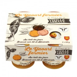 Yaourt fermier brassé sur lit d'abricot
